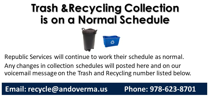 All curbside collections are being collected as scheduled